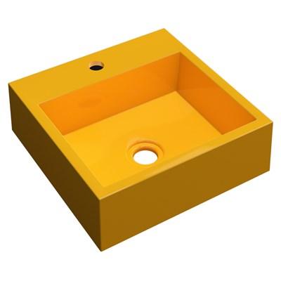 Cuba Pia De Apoio Para Banheiro Quadrada Veneza Q395 Amarelo C08 - Mpozenato