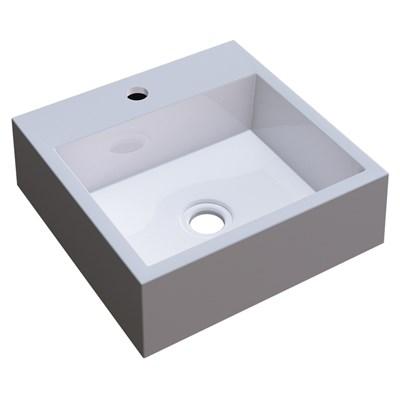 Cuba Pia De Apoio Para Banheiro Quadrada Veneza Q395 Branco C08 - Mpozenato