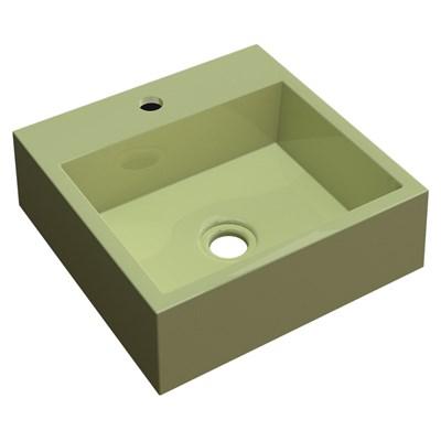 Cuba Pia De Apoio Para Banheiro Quadrada Veneza Q395 Verde Acqua C08 - Mpozenato