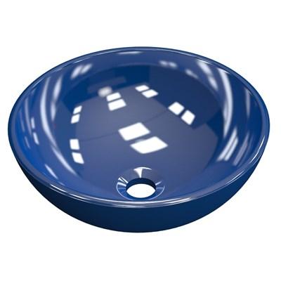 Cuba Pia de Apoio para Banheiro Redonda Bowl 30 C08 Azul Escuro - Mpozenato