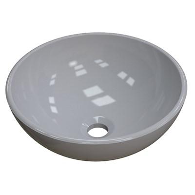 Cuba Pia de Apoio para Banheiro Redonda Bowl 30 C08 Cinza - Mpozenato