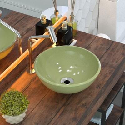 Cuba Pia de Apoio para Banheiro Redonda Bowl 30 C08 Verde Acqua - Mpozenato