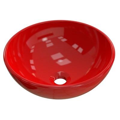 Cuba Pia de Apoio para Banheiro Redonda Bowl 30 C08 Vermelho - Mpozenato