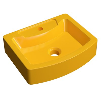 Cuba Pia de Apoio para Banheiro Retangular Aria RT41 C08 Amarelo - Mpozenato