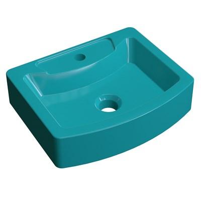 Cuba Pia de Apoio para Banheiro Retangular Aria RT41 C08 Azul Turquesa - Mpozenato