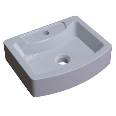 Cuba Pia de Apoio para Banheiro Retangular Aria RT41 C08 Cinza - Mpozenato