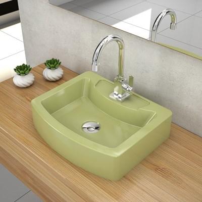 Cuba Pia de Apoio para Banheiro Retangular Aria RT41 C08 Verde Acqua - Mpozenato