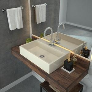 Cuba Pia De Apoio Para Banheiro  Retangular Florenza RT55 Bege C08 - Mpozenato