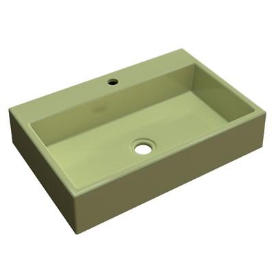 Cuba Pia De Apoio Para Banheiro  Retangular Florenza RT55 Verde Acqua C08 - Mpozenato