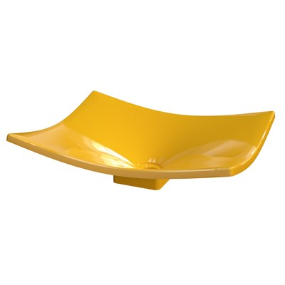 Cuba Pia de Apoio para Banheiro Retangular Folha Bari F44W C08 Amarelo - Mpozenato