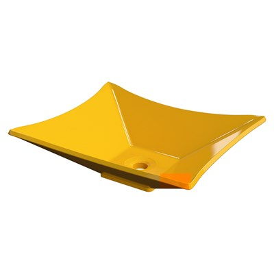 Cuba Pia de Apoio para Banheiro Retangular Luxo 38 C08 Amarelo - Mpozenato