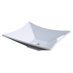 Cuba Pia de Apoio para Banheiro Retangular Luxo 38 C08 Branco - Mpozenato