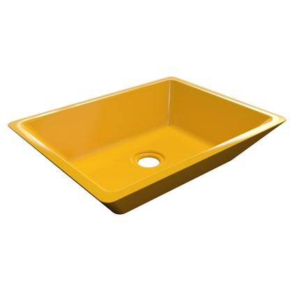 Cuba Pia De Apoio Para Banheiro Retangular Messina RT45 Amarelo C08 - Mpozenato