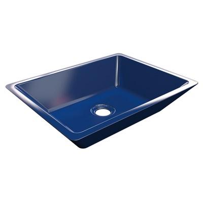 Cuba Pia De Apoio Para Banheiro Retangular Messina RT45 Azul Escuro C08 - Mpozenato
