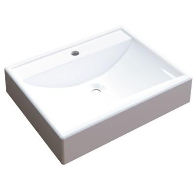 Cuba Pia de Apoio para Banheiro Retangular RT49 C08 Branco - Mpozenato