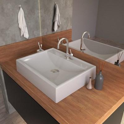 Cuba Pia de Apoio para Banheiro Retangular RT49 C08 Cinza - Mpozenato