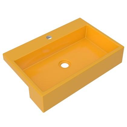 Cuba Pia Semi Encaixe para Banheiro Retangular 54cm XRT C08 Amarelo - Mpozenato