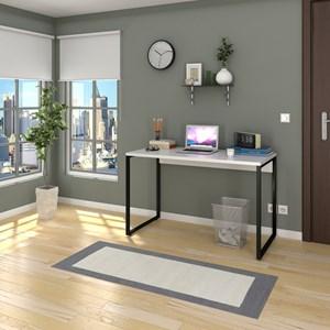 Escrivaninha Mesa de Escritório Studio Industrial 120 Branco – Mpozenato