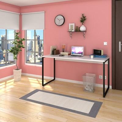 Escrivaninha Mesa de Escritório Studio Industrial 150 M18 Branco – Mpozenato