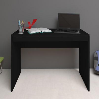 Escrivaninha Mesa para Computador 2 Gavetas Mobile College Preto – Artany