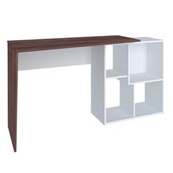 Escrivaninha Mesa para Computador 4 Nichos Mobile Urban Ipê/Branco - A