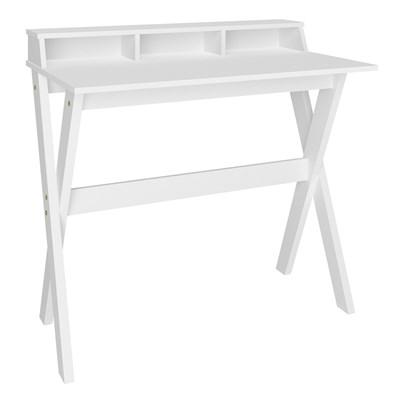 Escrivaninha Mesa para Computador Retrô 3 Nichos Itália Branco – Artany