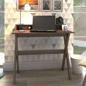 Escrivaninha Mesa para Computador Retrô 3 Nichos Itália Nogal – Artany