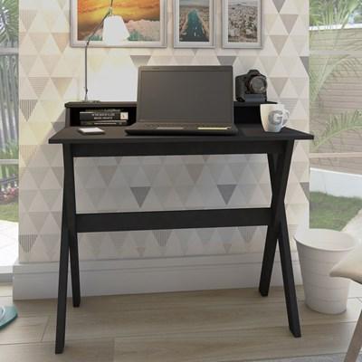 Escrivaninha Mesa para Computador Retrô 3 Nichos Itália Preto – Artany