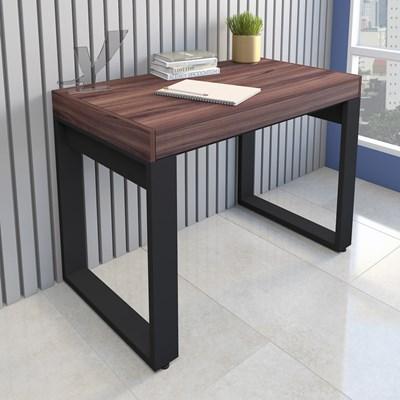 Escrivaninha Mesa para Computador Squadra Preto/Ipê - Artany