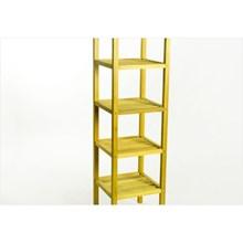 Estante Alta com 05 Prateleiras Aquiles Stain Amarelo - Mão e Formão
