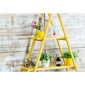 Estante Escada Aquiles Stain Amarelo - Mão e Formão