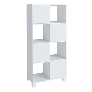 Estante Home Office 4 Portas 4 Nichos Mobile Wally Branco - Artany