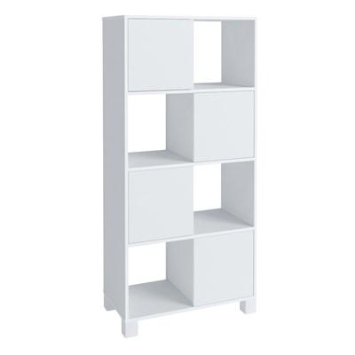 Estante Home Office 4 Portas 4 Nichos Mobile Wally Branco - Artany