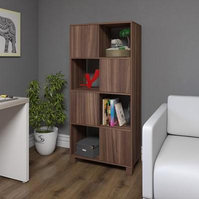 Estante Home Office 4 Portas 4 Nichos Mobile Wally Ipê - Artany