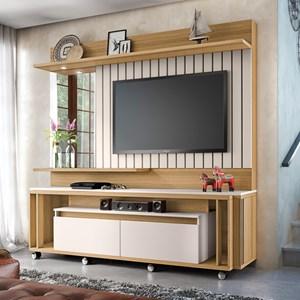 Estante Home Painel para TV até 60 Pol Eclipse Frejó/Off White - HB Móveis