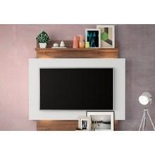 Estante Home Suspenso para TV com Led TB111L Off White/Nobre - Dalla Costa