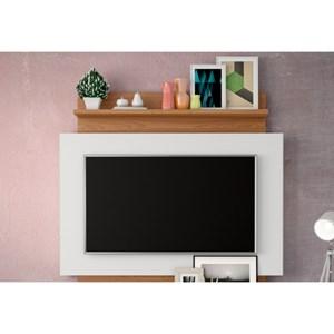 Estante Home Suspenso para TV TB111 Off White/Freijó - Dalla Costa