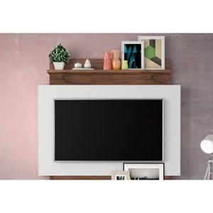 Estante Home Suspenso para TV TB111 Off White/Nobre - Dalla Costa