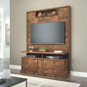 Estante Home Theater Para TV até 50 Pol. Alabama Canela - Lukaliam Móveis