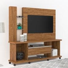Estante Home Theater Para TV até 55 Pol. Onix Amêndoa/Off White - Lukaliam Móveis