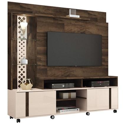 Estante Home Theater Para TV até 55 Pol. Vitral Deck/Off White - HB Móveis
