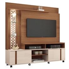 Estante Home Theater Para TV até 55 Pol. Vitral Nature/Off White - HB Móveis