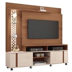 Estante Home Theater Para TV até 55 Pol. Vitral Nature/Off White - HB
