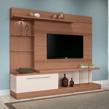 Estante Home Theater Para TV até 60 Pol. Allure Nature/Off White - HB Móveis
