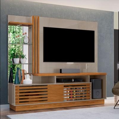 Estante Home Theater Para TV Até 60 Pol. Frizz Plus Fendi/Naturale - Madetec