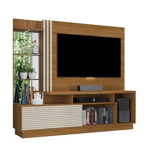 Estante Home Theater Para TV até 60 Pol. Frizz Plus Naturale/Off White - Madetec