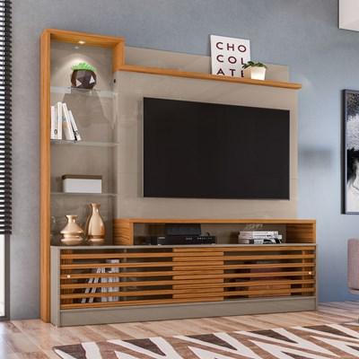 Estante Home Theater Para TV Até 60 Pol. Frizz Prime Fendi/Naturale - Madetec