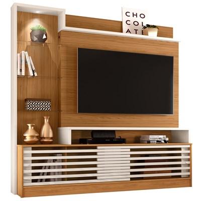 Estante Home Theater Para TV Até 60 Pol. Frizz Prime Naturale/Off White - Madetec
