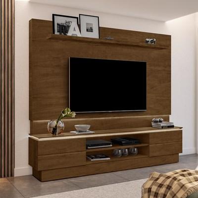 Estante Home Theater Para TV Até 60 Pol. London Malbec - Móveis Lupi