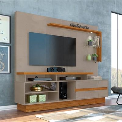 Estante Home Theater Para TV Até 60 Pol. Vicente Fendi/Naturale - Madetec
